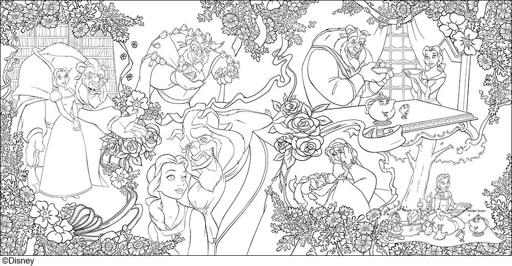 大人ディズニー 愛の贈りもの 素敵な塗り絵レッスンブック発売株式